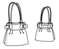 Эскиз вязаной крючком сумки
