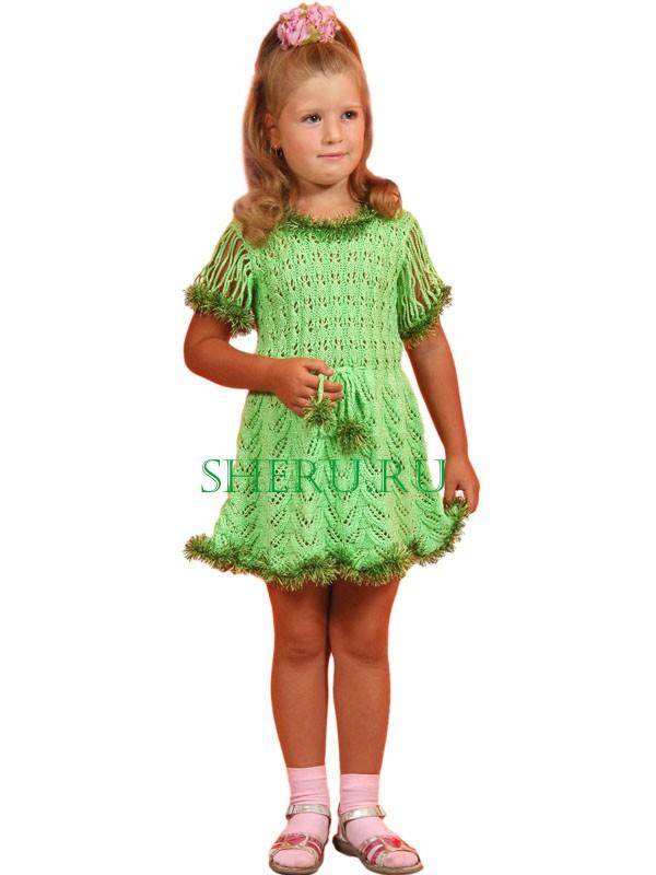 Вязаные светло-зеленое детское