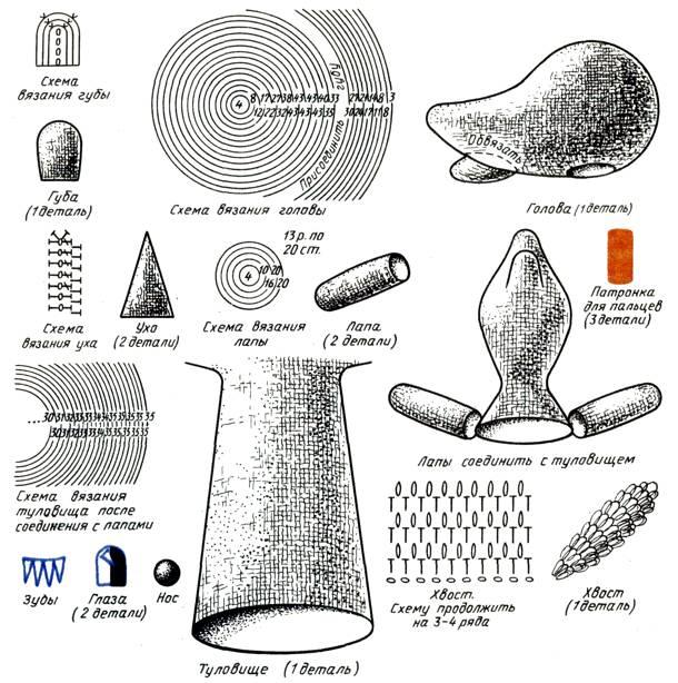Схема вязания игрушки